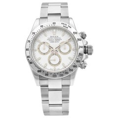 Rolex Daytona Cosmograph Stainless Steel White Dial Automatic Men's Watch 116520