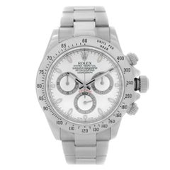 Rolex Daytona Cosmograph Stainless Steel White Dial Automatic Mens Watch 116520
