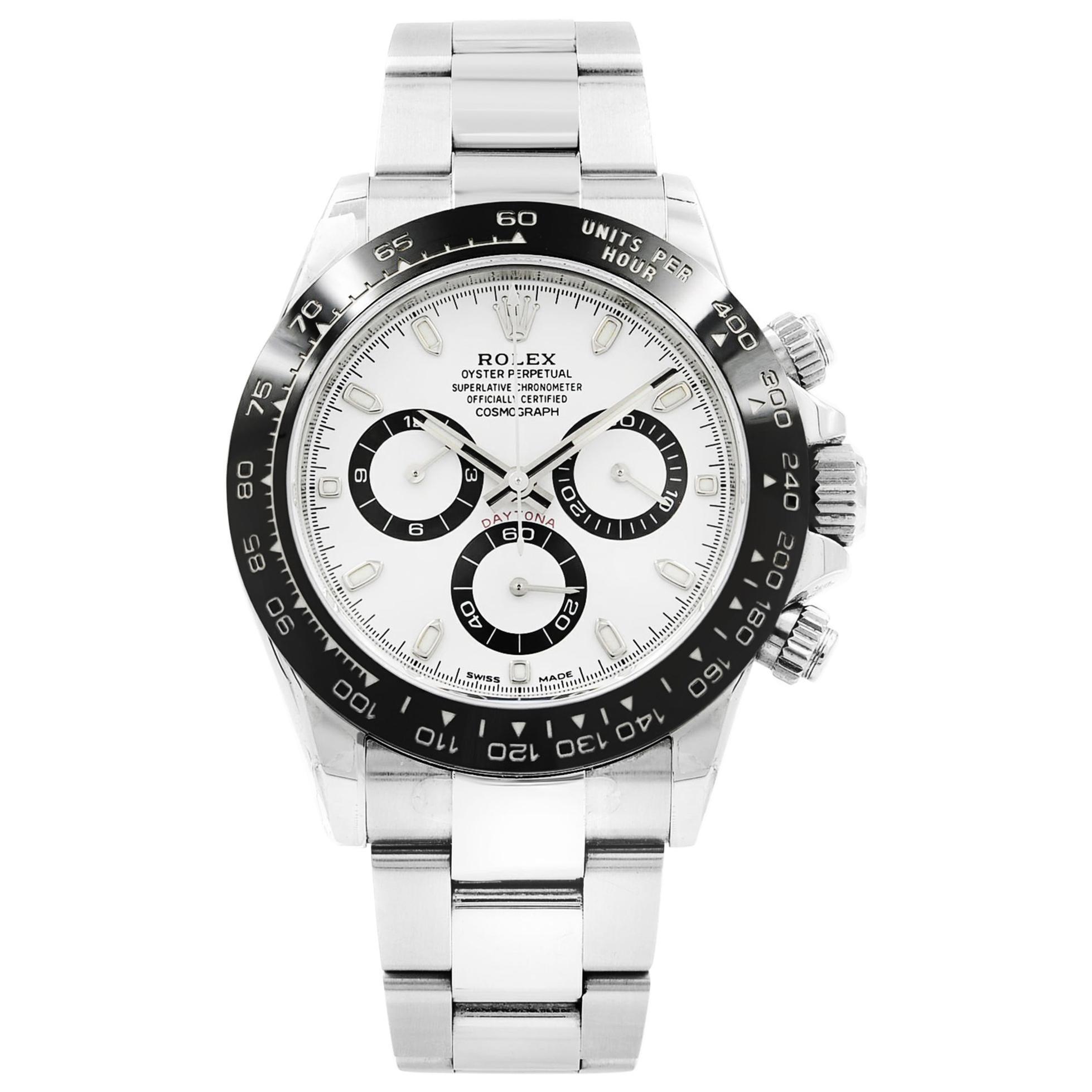 Rolex Daytona Cosmograph White Dial Steel Ceramic Automatic Men's Watch 116500LN