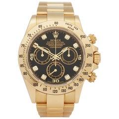 Rolex Daytona Diamond Chronograph 18 Karat Yellow Gold 116528