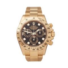 Rolex Daytona Diamond Yellow Gold 116528 Wristwatch