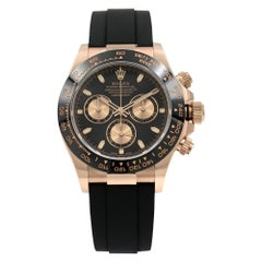 Rolex Daytona Oysterflex Everose Gold Black Dial Automatic Men's Watch 116515LN