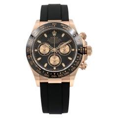Rolex Daytona Oysterflex Everose Gold Black Dial Automatic Men's Watch 116515LN