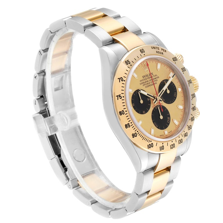 Rolex Daytona Paul Newman Dial Steel Yellow Gold Men's Watch 116523 In Excellent Condition For Sale In Atlanta, GA