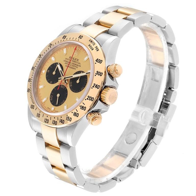 Rolex Daytona Paul Newman Dial Steel Yellow Gold Men's Watch 116523 For Sale 1