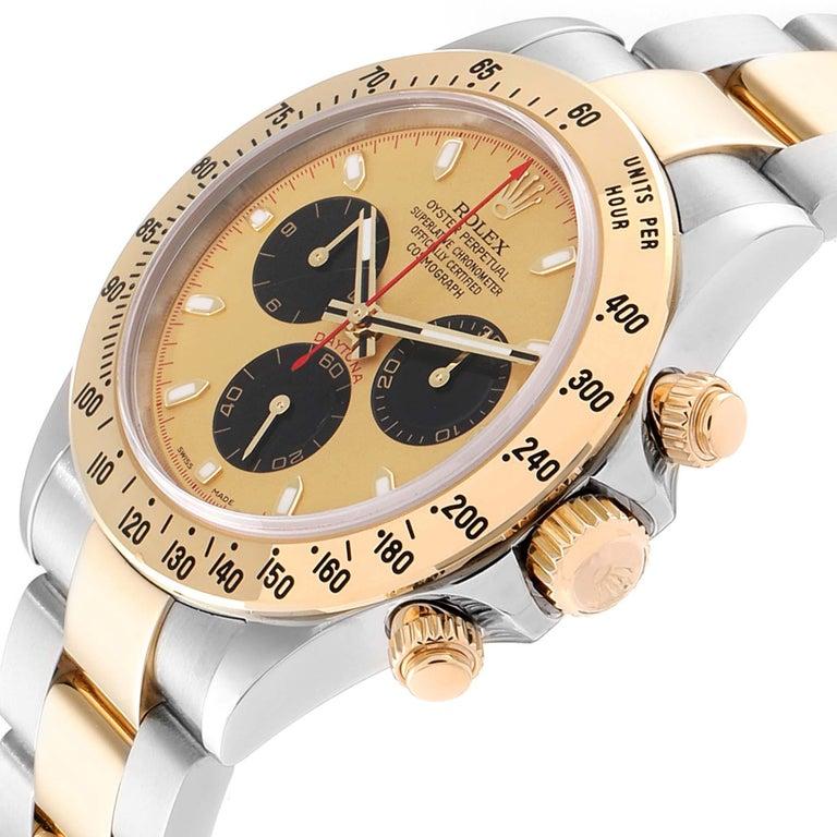 Rolex Daytona Paul Newman Dial Steel Yellow Gold Men's Watch 116523 For Sale 2