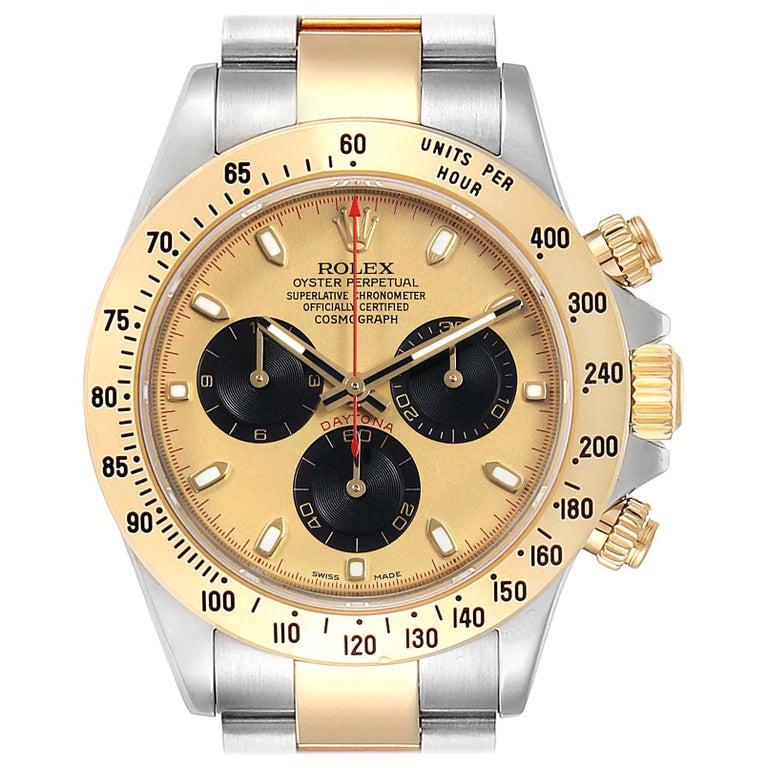 Rolex Daytona Paul Newman Dial Steel Yellow Gold Men's Watch 116523 For Sale