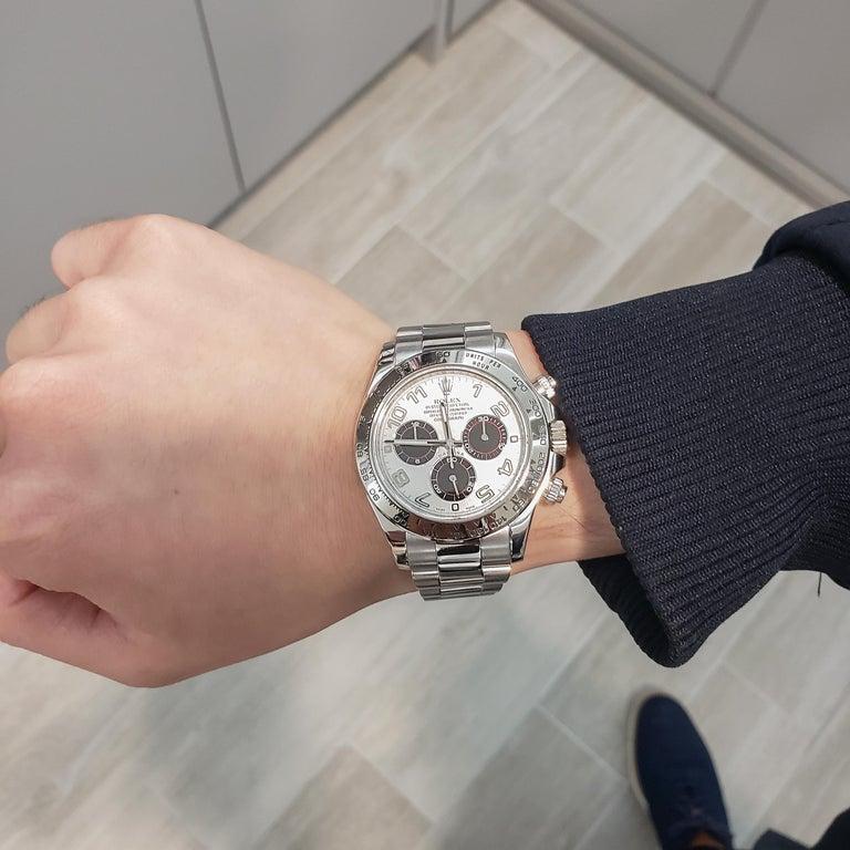 Contemporary Rolex Daytona Ref 116509 Panda Dial White Gold Chronograph Wristwatch