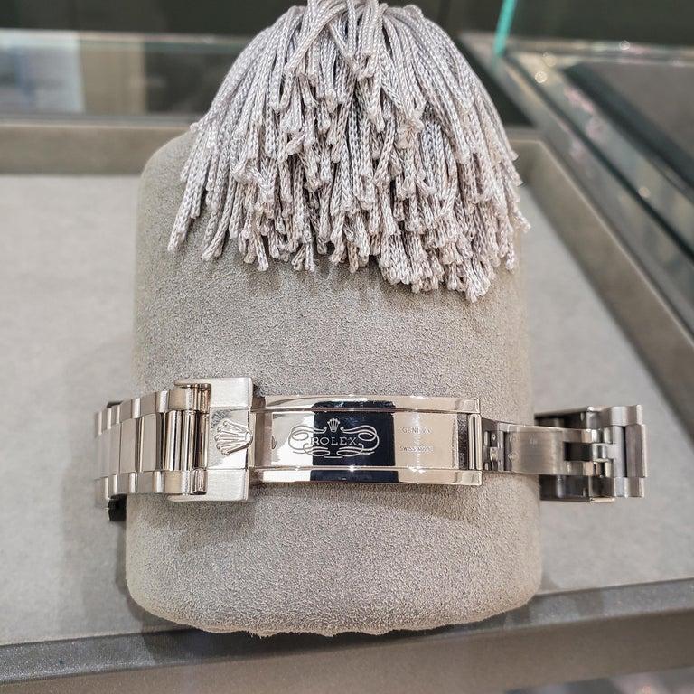 Women's or Men's Rolex Daytona Ref 116509 Panda Dial White Gold Chronograph Wristwatch