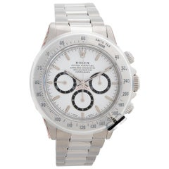 Rolex Daytona Ref 16520, Zenith Movement and White Dial with 'Inverted Six'