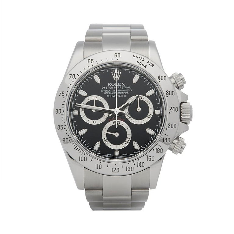 Rolex Daytona Stainless Steel 116520 For Sale At 1stdibs