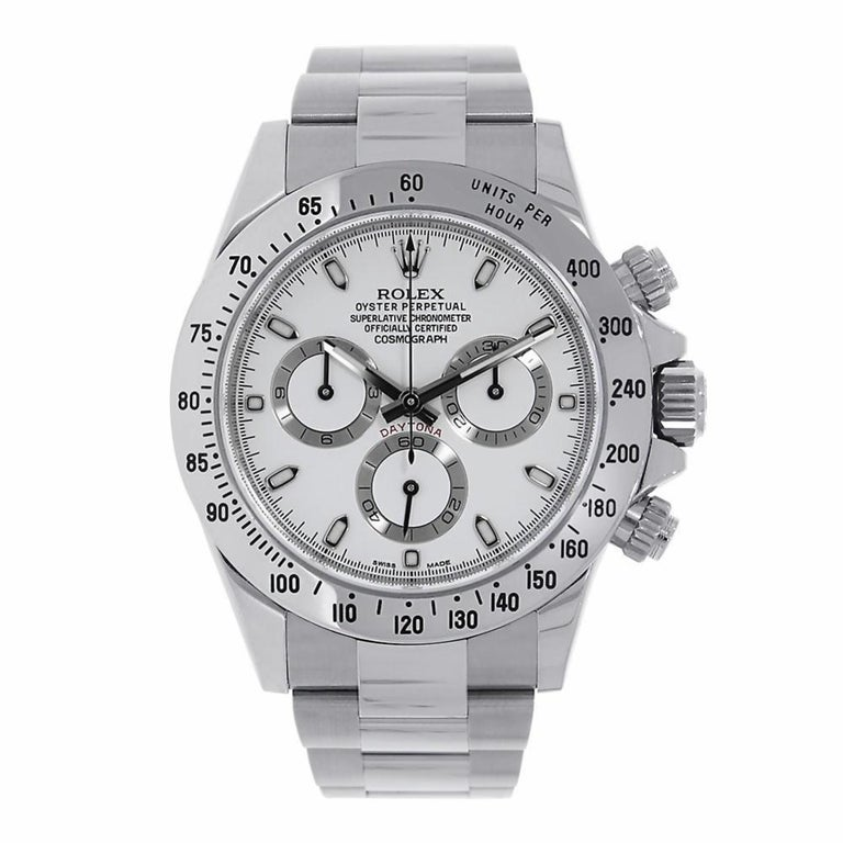 Rolex Daytona Stainless Steel White Dial Watch 116520