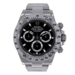 Rolex Daytona Stainless Steel Black Dial Watch 116520