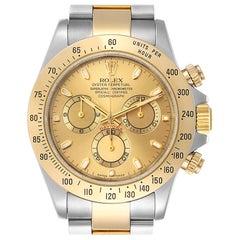 Rolex Daytona Steel 18 Karat Yellow Gold Men's Watch 116523 Box Papers