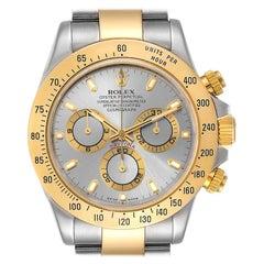 Rolex Daytona Steel 18k Yellow Gold Slate Dial Mens Watch 116523