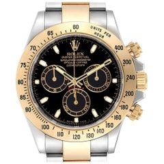 Rolex Daytona Steel Yellow Gold Black Dial Chronograph Men's Watch 116523