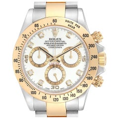 Rolex Daytona Steel Yellow Gold Diamond Chronograph Men's Watch 116523