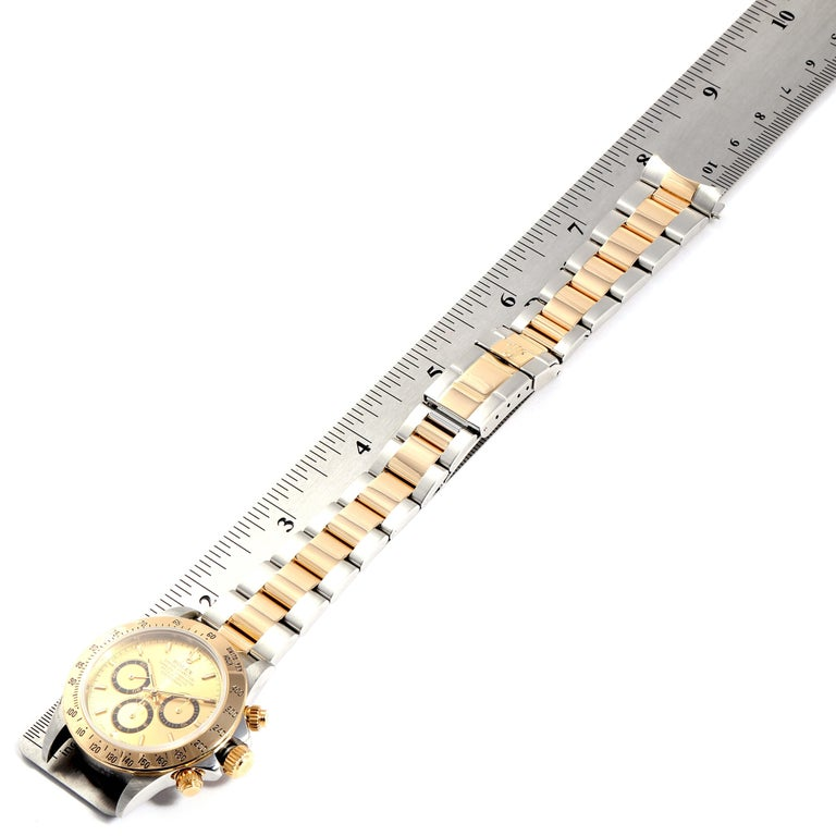 Rolex Daytona Steel Yellow Gold Men's Watch 16523 Box For Sale 7