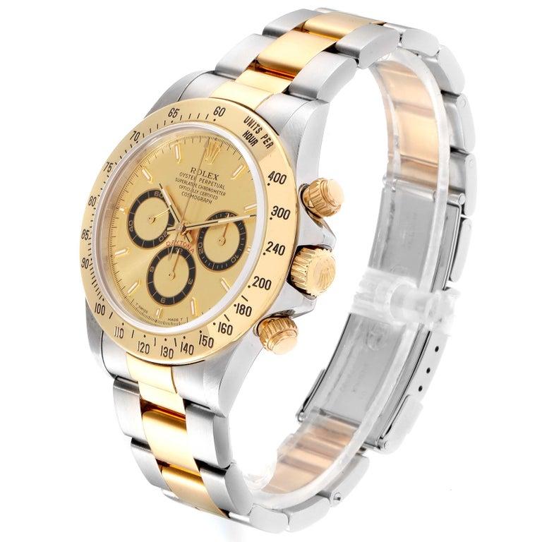 Rolex Daytona Steel Yellow Gold Men's Watch 16523 Box In Excellent Condition For Sale In Atlanta, GA