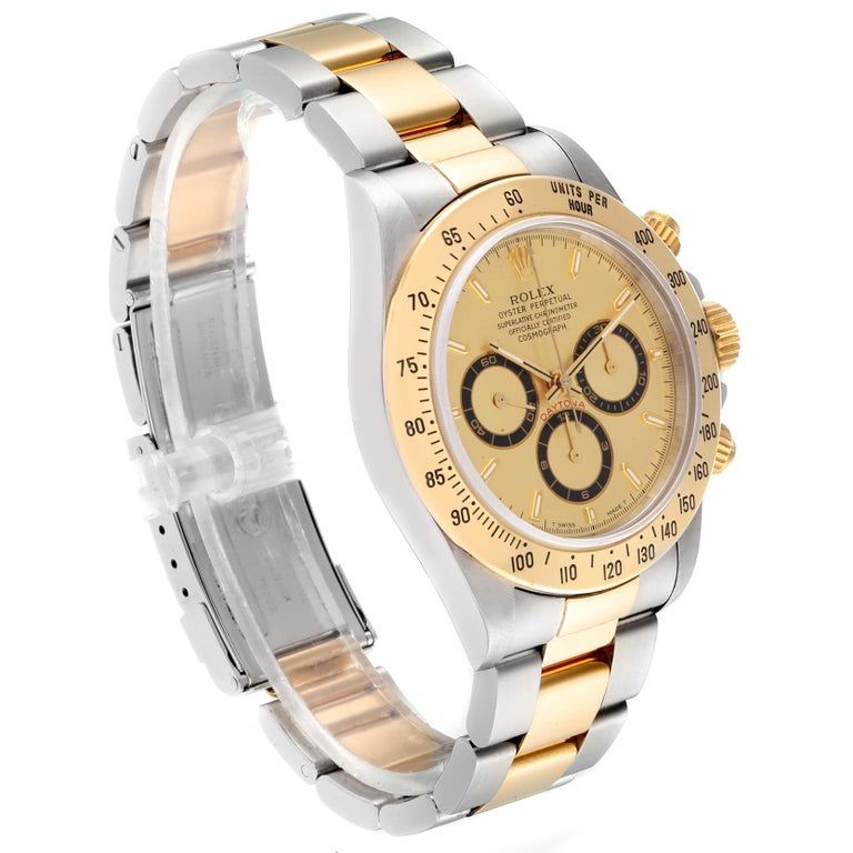 Rolex Daytona Steel Yellow Gold Men's Watch 16523 Box For Sale 1