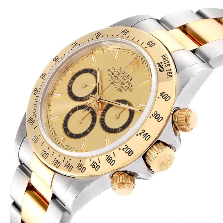 Rolex Daytona Steel Yellow Gold Men's Watch 16523 Box For Sale 2