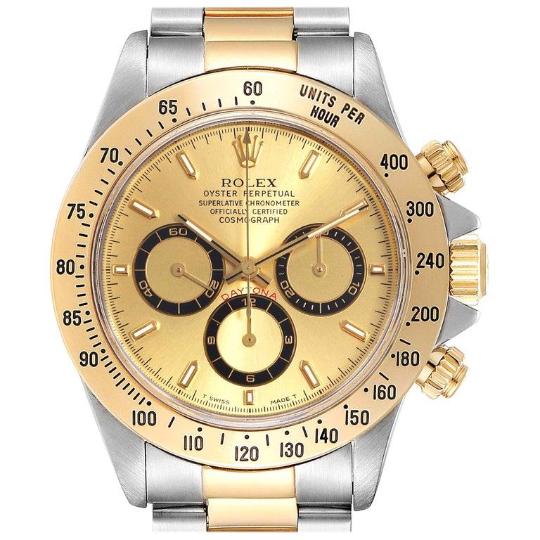 Rolex Daytona Steel Yellow Gold Men's Watch 16523 Box For Sale