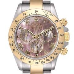 Rolex Daytona Steel Yellow Gold MOP Dial Chronograph Mens Watch 116523