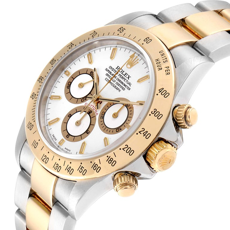 Rolex Daytona Steel Yellow Gold White Dial Chronograph Men's Watch 116523 For Sale 2