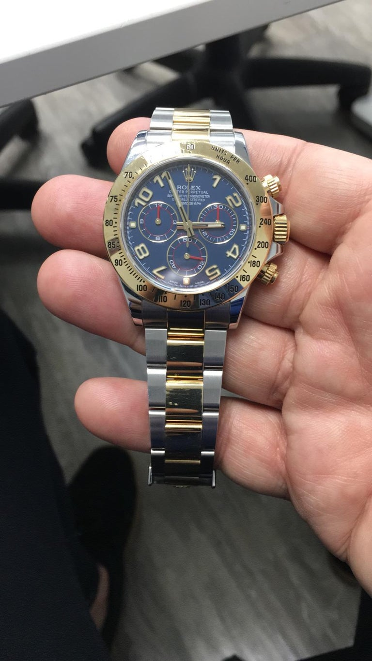 Men's Rolex Daytona Two-Tone Blue Racing Dial For Sale