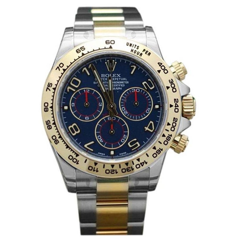 Rolex Daytona Two-Tone Blue Racing Dial For Sale