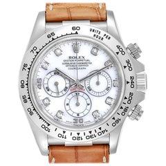 Rolex Daytona White Gold Mother of Pearl Diamond Men's Watch 16519