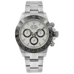 Rolex Daytona White Panda Dial Steel Ceramic Automatic Men's Watch 116500LN