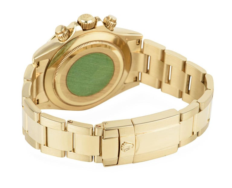 Men's Rolex Daytona Yellow Gold 116528 Watch For Sale