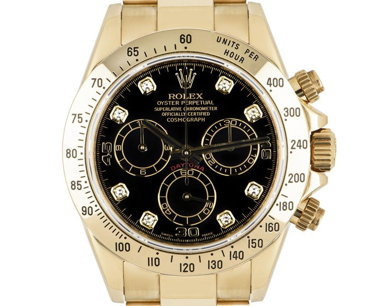 Rolex Daytona Yellow Gold 116528 Watch For Sale 2