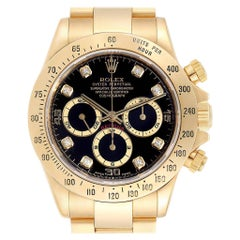 Rolex Daytona Yellow Gold Diamond Dial Chronograph Men's Watch 16528