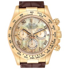 Rolex Daytona Yellow Gold Mother of Pearl Dial Men's Watch 116518