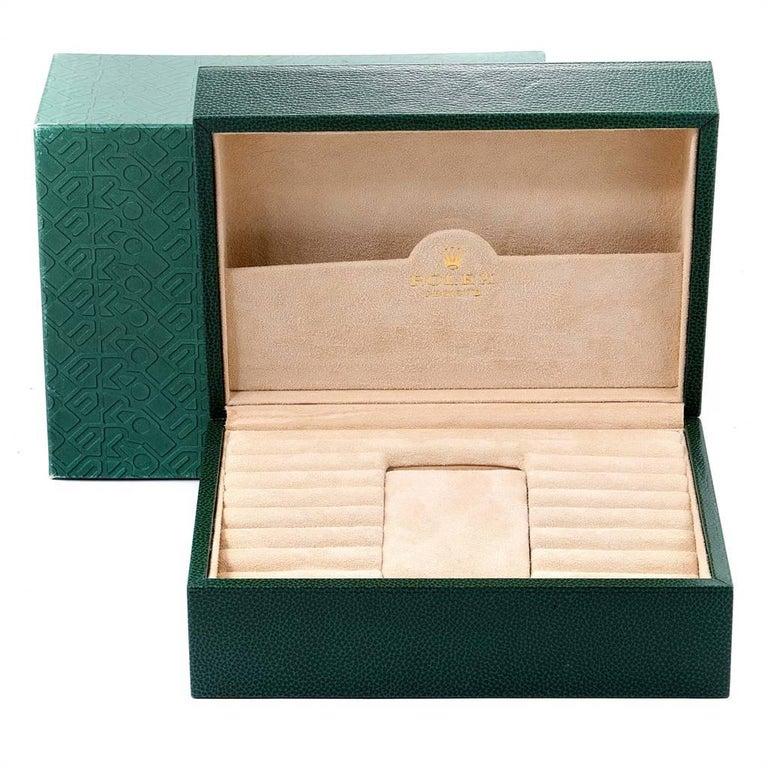 Rolex Daytona Yellow Gold White Dial Brown Strap Men's Watch 116518 For Sale 7
