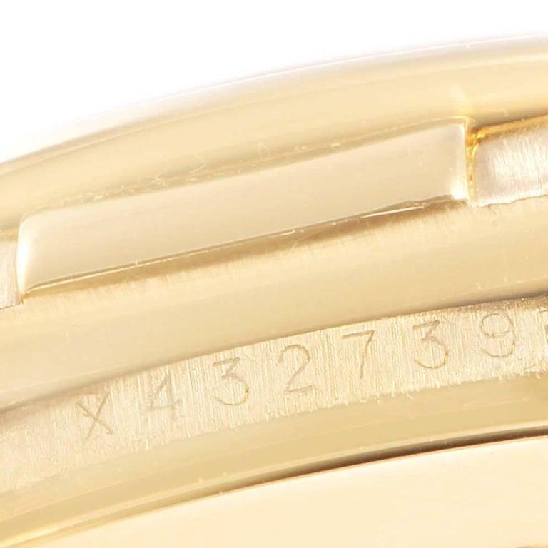 Rolex Daytona Yellow Gold White Dial Brown Strap Men's Watch 116518 For Sale 4