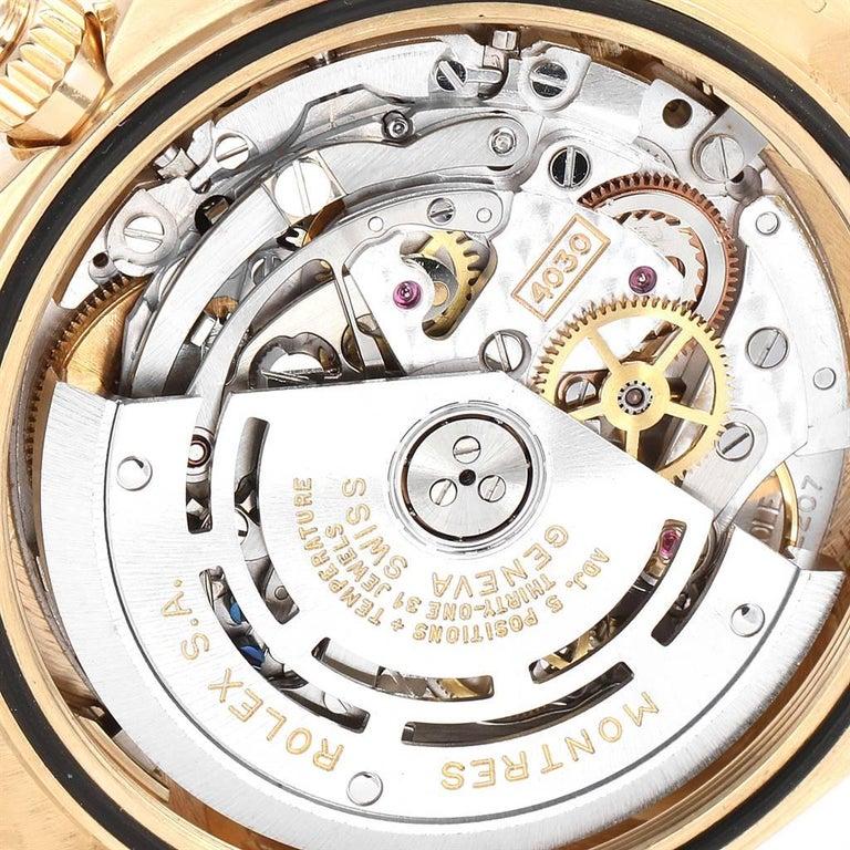 Rolex Daytona Yellow Gold White Dial Brown Strap Men's Watch 116518 For Sale 5
