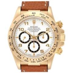 Rolex Daytona Yellow Gold White Dial Chronograph Men's Watch 16518
