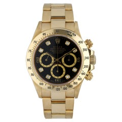 Rolex Daytona Zenith 16528 Diamond Dial Men's Watch