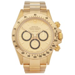 Rolex Daytona Zenith Inverted 6 Floating Cosmograph 200 Bezel Yellow Gold 16528