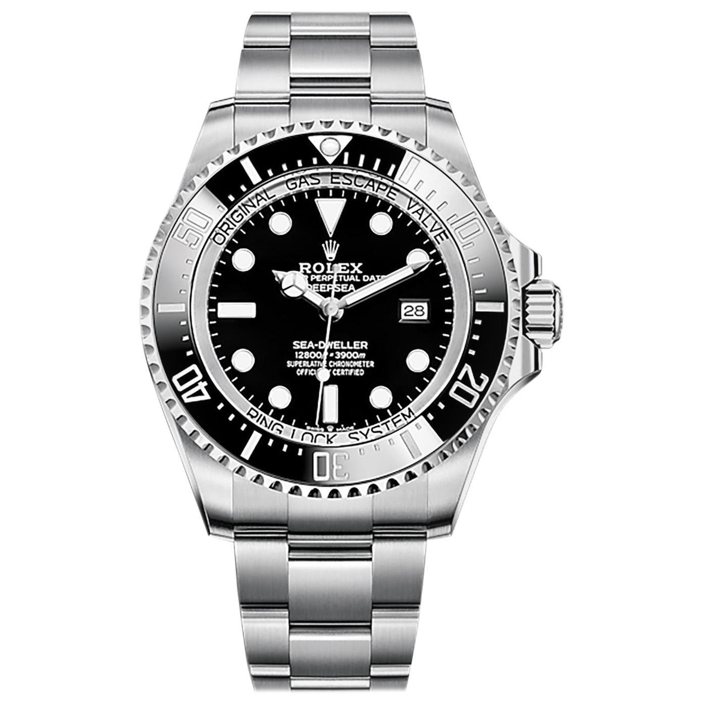 Rolex Deepsea Automatic Black Dial Men's Watch 126660-0001