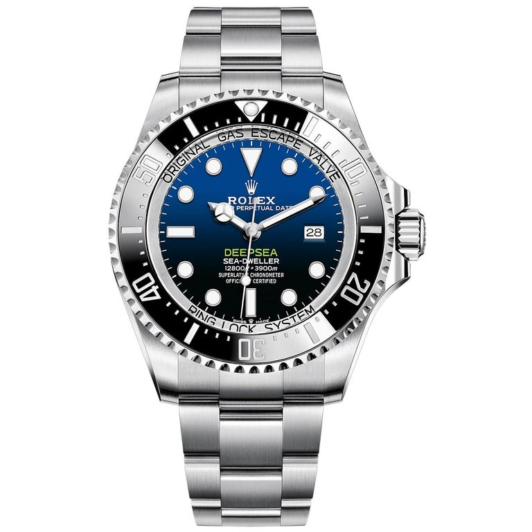 Rolex Deepsea Blue Dial Automatic Men's Stainless Steel Oyster Watch 126660-0002 For Sale