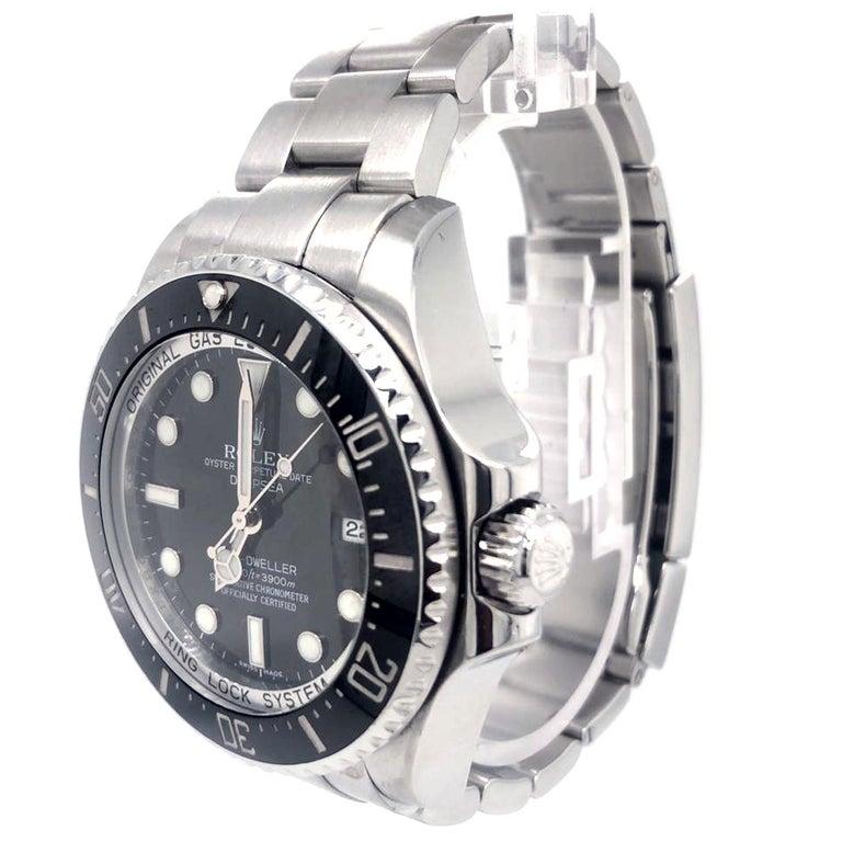 Rolex Deepsea Sea-Dweller 116660 Stainless Steel Black Ceramic Dial Watch In Good Condition For Sale In Aventura, FL