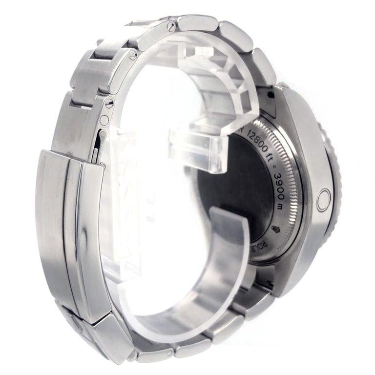 Men's Rolex Deepsea Sea-Dweller 116660 Stainless Steel Black Ceramic Dial Watch For Sale