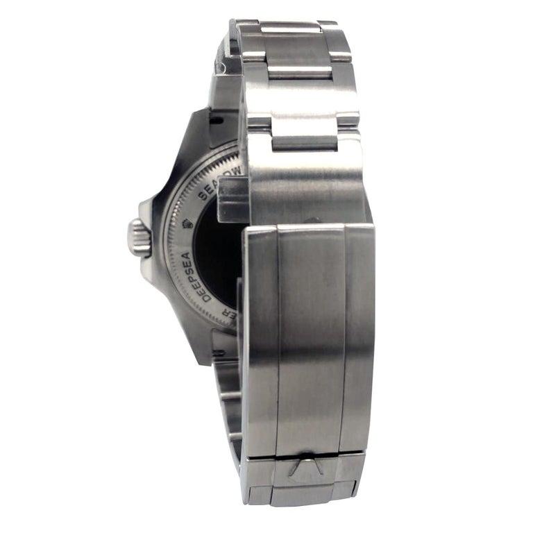 Rolex Deepsea Sea-Dweller 116660 Stainless Steel Black Ceramic Dial Watch For Sale 1