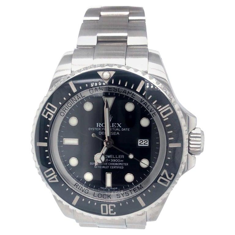 Rolex Deepsea Sea-Dweller 116660 Stainless Steel Black Ceramic Dial Watch For Sale
