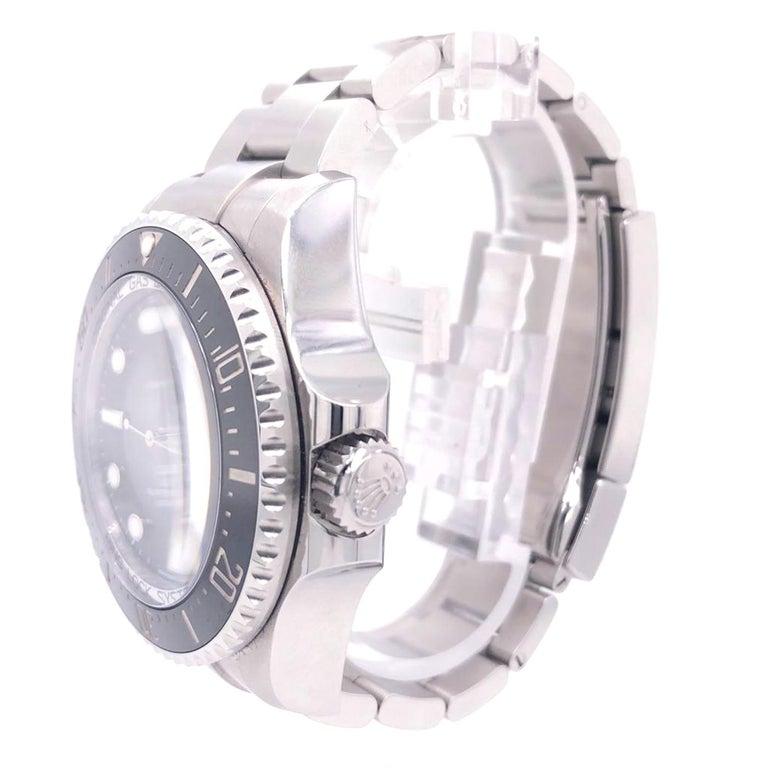Modernist Rolex Deepsea Sea-Dweller Oyster Perpetual 44 Black Dial Steel Mens Watch 126660