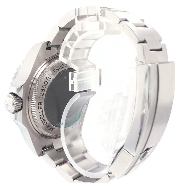 Rolex Deepsea Sea-Dweller Oyster Perpetual 44 Black Dial Steel Mens Watch 126660 1